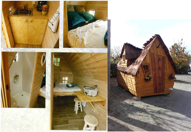 Camping Holidays In France - Lit cabane mobil wood